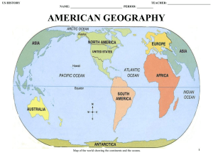 unit 1: american geography