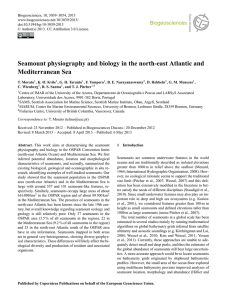 Seamount physiography and biology in the north