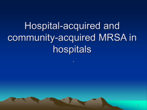 Hospital-acquired and community