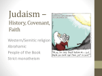 Judaism * History, Covenant, Faith