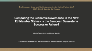 Comparing the Economic Governance in the New EU Member States