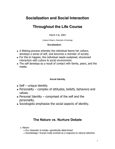 Psychological Perspectives on Socialization
