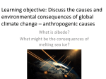 What are the anthropogenic causes of climate change?