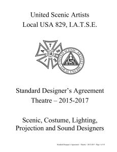 United Scenic Artists Local USA 829, I.A.T.S.E. Standard Designer`s