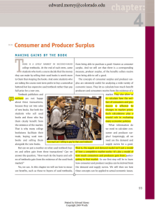Consumer and Producer Surplus - University of Colorado Boulder