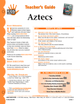 Teacher`s Guide Aztecs Teacher`s Guide ...........................www