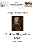 Handel`s `And The Glory of The Lord`
