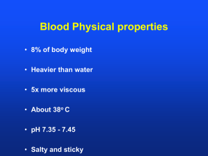 Blood Physical properties