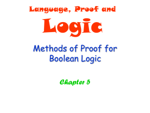 Methods of Proof for Boolean Logic