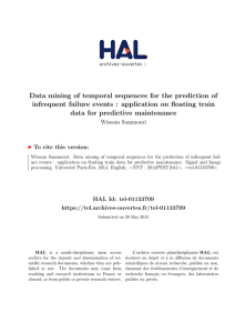 Data mining of temporal sequences for the prediction of infrequent