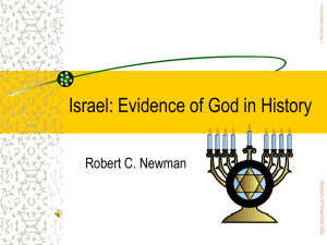 Israel: Evidence of God in History