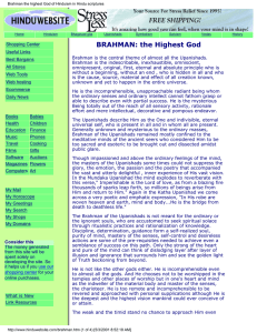 Brahman of the upanishads, the universal God of Hinduism