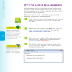 Writing a first Java program