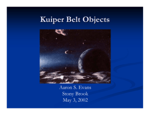 Kuiper Belt Objects - Stony Brook Astronomy
