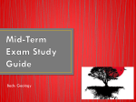 Mid-Term Exam Study Guide