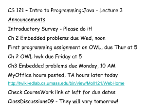 CS 121 – Intro to Programming:Java