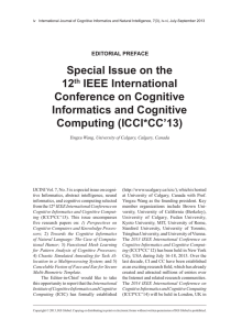 Special Issue on the 12th IEEE International Conference