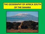 the geography of africa south of the sahara