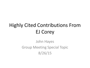 Group Meeting Special Topic: EJ Corey