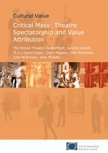 Critical Mass: Theatre Spectatorship and Value Attribution