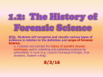 1.2--POWERPOINT--History of Forensics