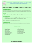 associate of science degree in natural science