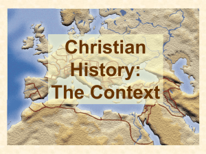 History of Christianity 1 Context
