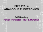 EMT 112 Self Reading - Power Amplifiers