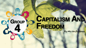 Ppt Presentation on Capitalism and Freedom