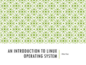 An Introduction to Linux Operating System