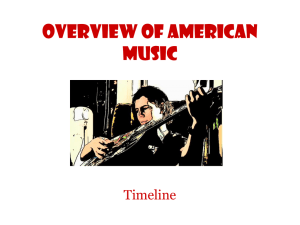 Overview of American Music - Harlan Independent Schools