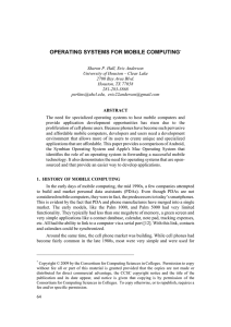 Operating systems for mobile computing