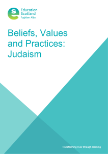 Beliefs, Values and Practices: Judaism