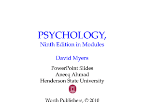 PSYCHOLOGY (9th Edition) David Myers