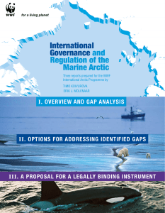 International Governance and Regulation of the Marine Arctic