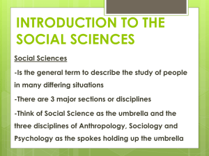 Unit 1- Intro To The Social Sciences