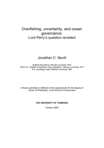 Overfishing, uncertainty, and ocean governance