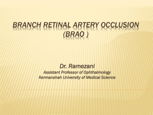 Branch retinal artery occlusion (brao )