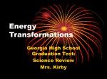Energy Transformations Lesson