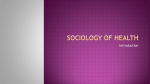 Sociology of Health