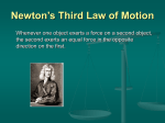 Newton`s Third Law of Motion