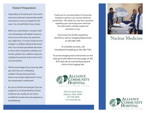 Nuclear Medicine - Alliance Community Hospital