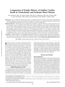 Comparison of Family History of Sudden Cardiac Death