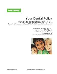 Table of Contents - Delta Dental of New Jersey