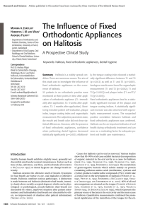 The Influence of Fixed Orthodontic Appliances on Halitosis