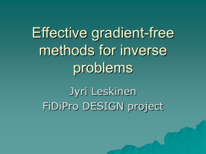 Developing Effective Gradient-Free Methods for Inverse Problems