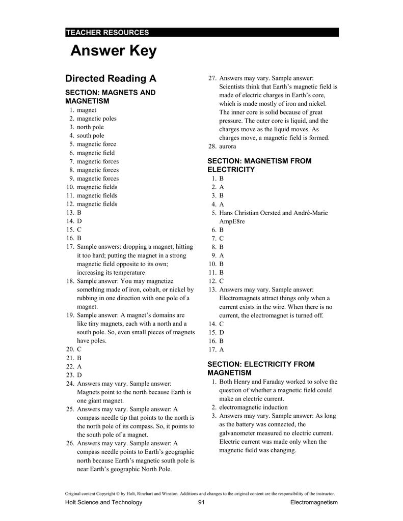 answer_key - Northside Middle School