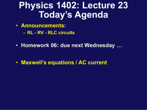 Lecture 23 - UConn Physics