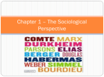 Chapter 1 – The Sociological Perspective