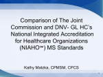 Comparison of The Joint Commission and DNVHC NIAHO